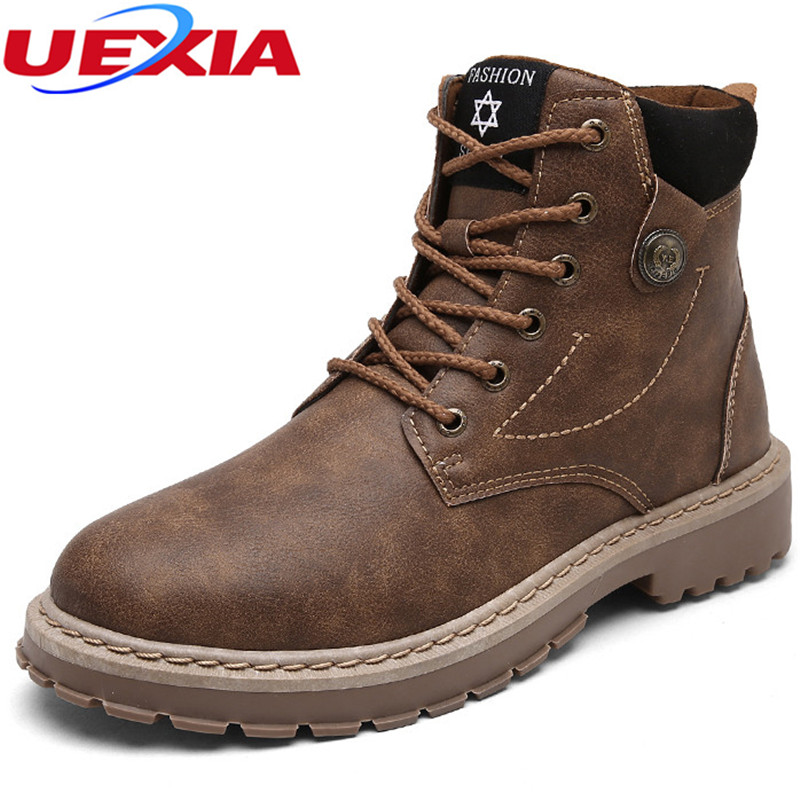 6e77ab5871 UEXIA Ankle Work Casual Male Boots Men Shoes Quality Designer ...