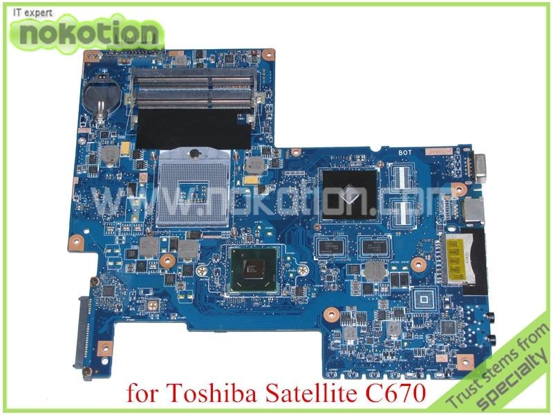 NOKOTION H000033490 Mainboard For toshiba satellite C670 laptop motherboard HM65 DDR3 graphics PN 08N1-0NA1Q00 REV 2.1