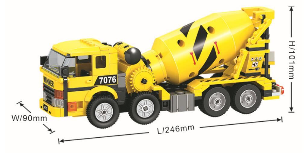 328pcs Mixer Truck Building Block City Town Construction Heavy Engineering Cement Educational Bricks Toys For Children in Stacking Blocks from Toys Hobbies