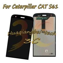 Caterpillar cat s61 용 5.2 품질 뉴 블랙 전체 lcd display + 터치 스크린 디지타이저 어셈블리 100% 테스트 됨