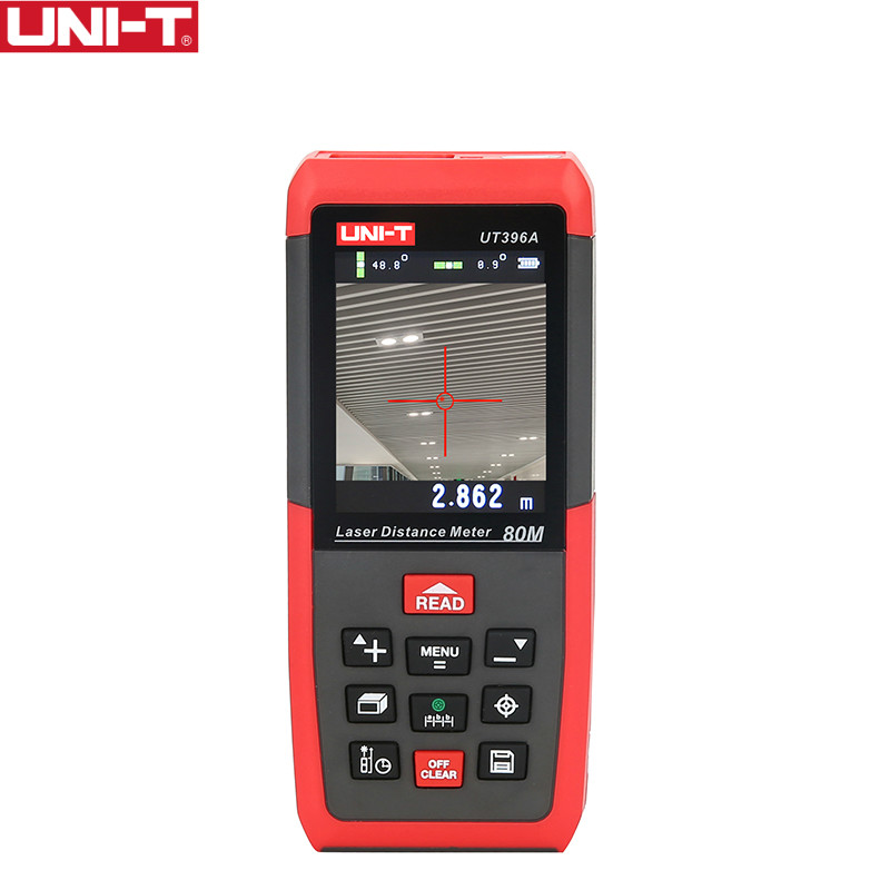 UNI-T UT396A Misuratori di Distanza Laser Professionale Loft di Prova Livellamento Strumento Area/Volume di Archiviazione Dei Dati Max 80 m 2MP Macchina Fotografica