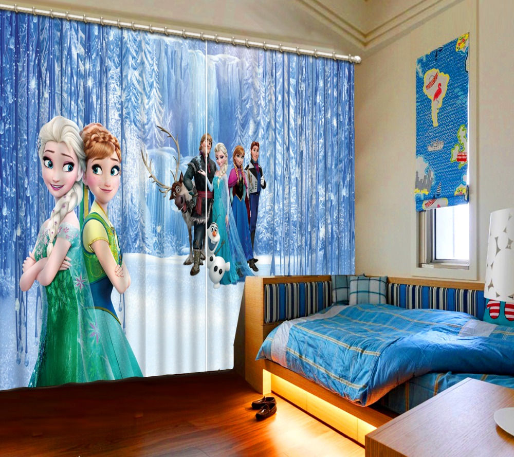 cartoon curtains Luxury Blackout snow curtain 3D Curtains For Living room Bedding room Office curtains for roomcartoon curtains Luxury Blackout snow curtain 3D Curtains For Living room Bedding room Office curtains for room