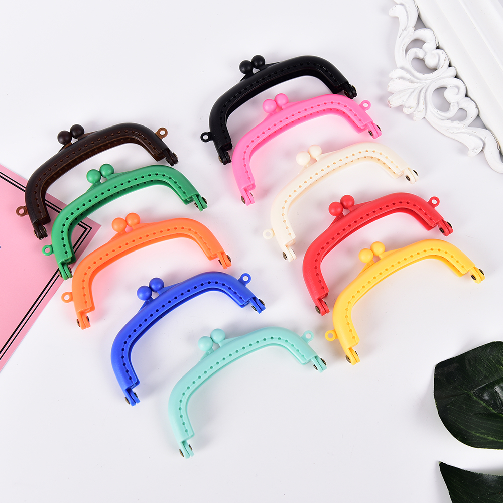 1PCS  Purse Frame Handle for Clutch Bag Handbag Accessories Making Kiss Clasp Lock For Bags Parts 10Colors