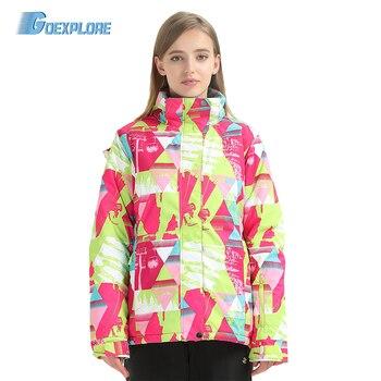 Goexplore Snow Ski Jacket Girls Snowboard Jacket Women 2019 Waterproof thermal Warm ski coat Outdoor Winter Hiking Sportswear