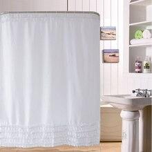 Duschvorhang Spitze Rüschen Design Bad Vorhang 180*180 Cm Badezimmer  Wasserdicht Polyester Bad Vorhänge Rideau De Douche
