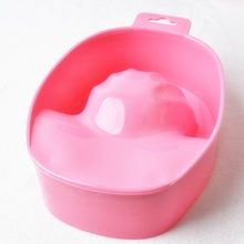 1pc Nail Art Hand Wash Remover Soak Bowl DIY Salon Nail Spa Bath Treatment Manicure Tools Random Color ZHH791