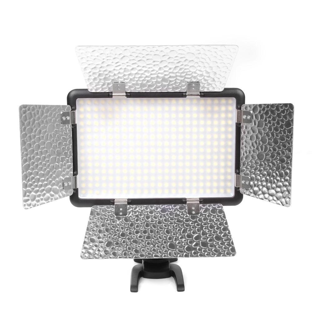Godox 308W II LED 5600K Video Light +Remote+Handle For DSLR Camera Camcorder DV godox ledm150 mobile phone video light max power 9w 5600k usb power charge socket for portable digital eos camera camcorder dv