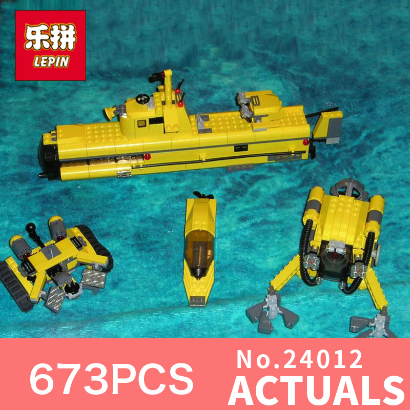 673Pcs Lepin 24012  Creative The Underwater Explora Ship Deep diving Model Building Kits Block Bricks Compatible Toys Model 4888 lepin 22001 pirate ship imperial warships model building block briks toys gift 1717pcs compatible legoed 10210
