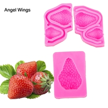 Angel Wings Food grade 3D fondant cake silicone mold Raspberry shaped for Reverse forming chocolate decoration tools F1206