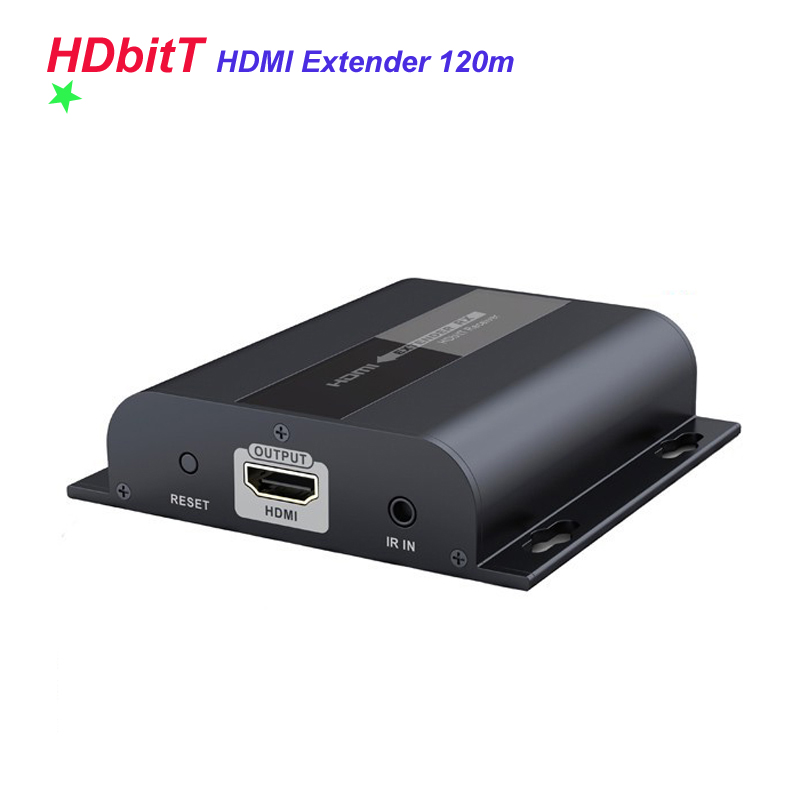New Arrival HDbitT HDMI Extender Transmitter and Receiver Wireless HDbitT Extender By Network Cable Up To 120M Apair Included