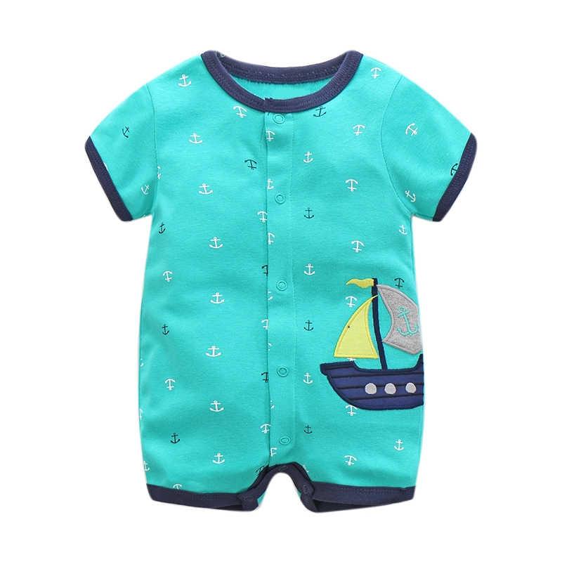 Летние детские комбинезоны с рисунками Одежда для новорожденных девочек одежда для маленьких мальчиков хлопковый комбинезон с короткими рукавами roupas bebes детские комбинезоны
