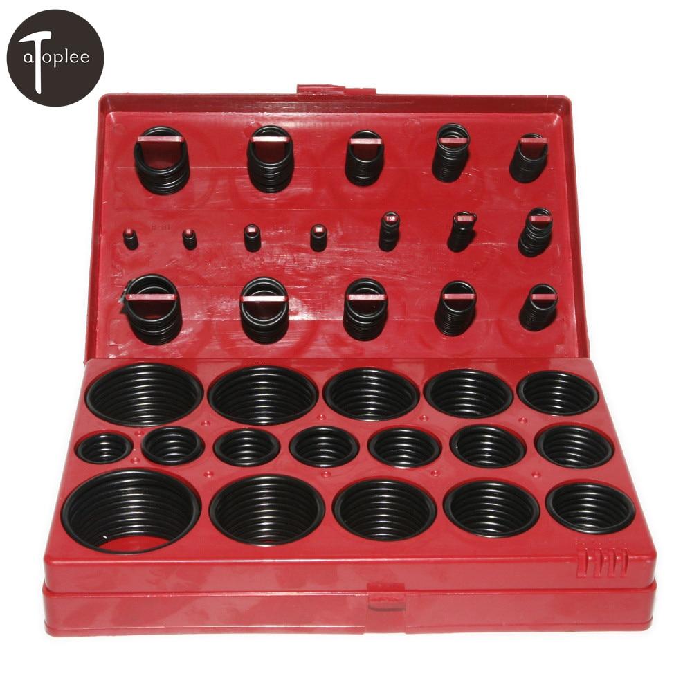 Universal 419PCS Car Assorted O Ring Nitrile Rubber Seal Assortment Set Kit Garage Plumbing Transmission O-Ring Seals Tools цена