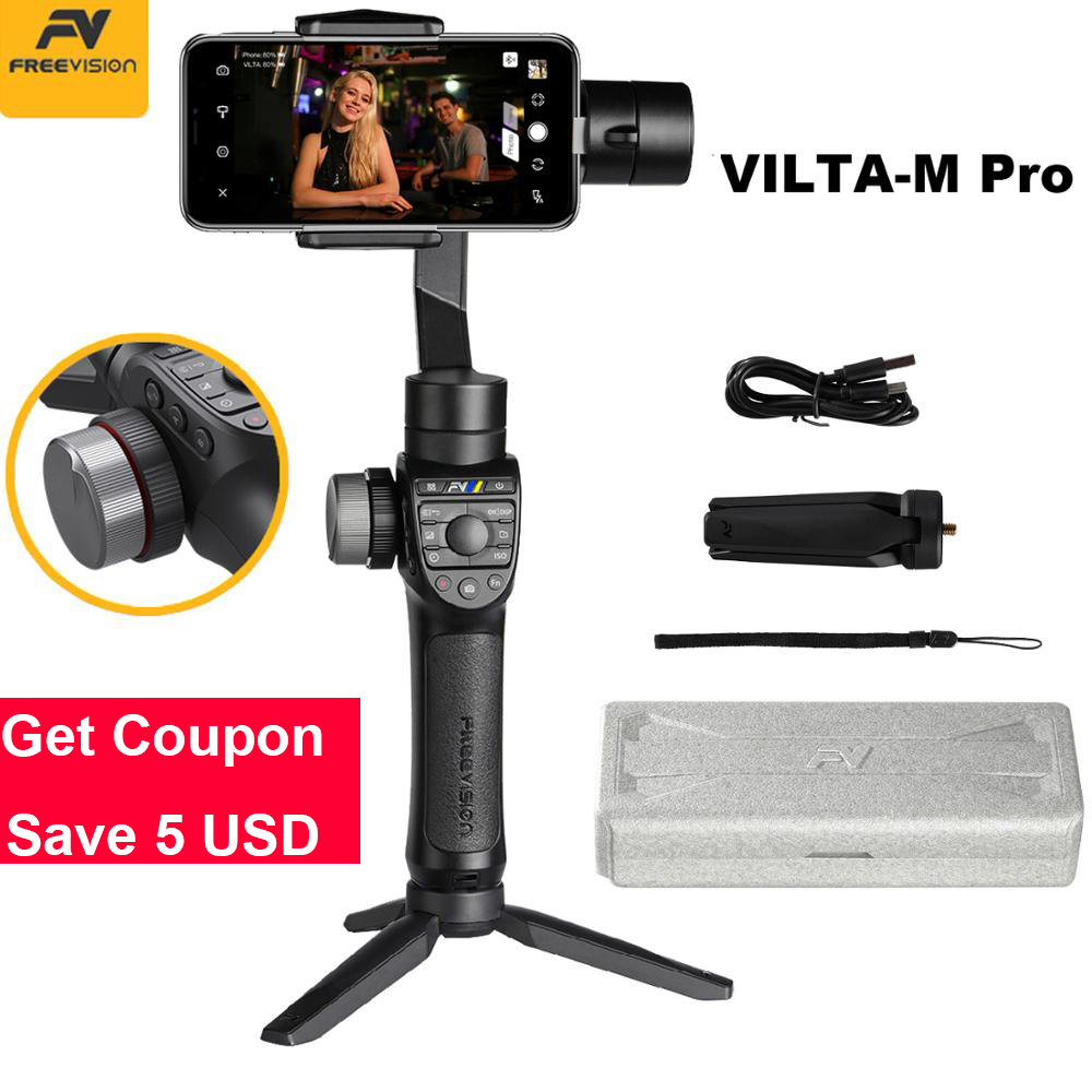 In Stock Freevision Vilta M Pro 3 Axis Handheld Gimbal Smartphone Stabilizer for Huawei P30 Pro
