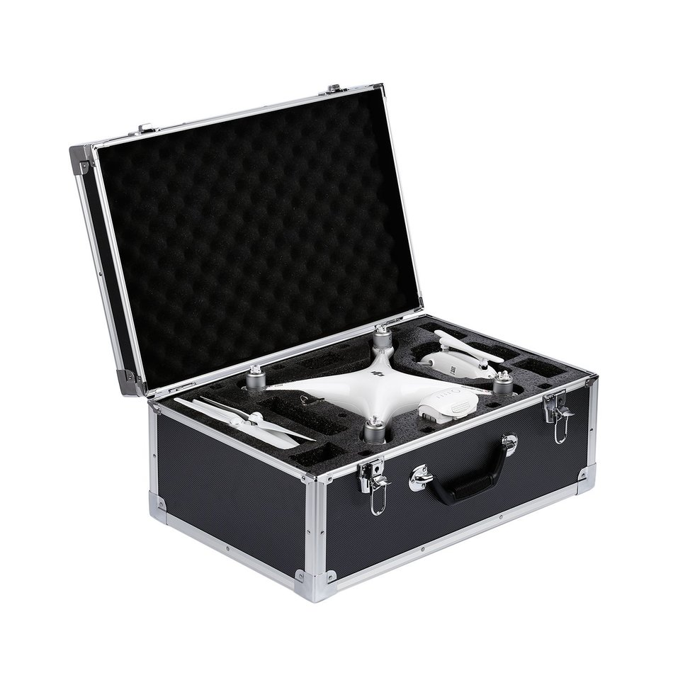 Outdoor Quadcopter Portable Aluminum Protective Carrying Hard Case Trolley for DJI Phantom 4 (Black) projectdesign protective hard carrying pouch case for wii nunchuck controller red
