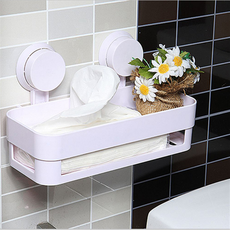 Sucker Edge Plastic Organizer Net Box Kitchen Sink