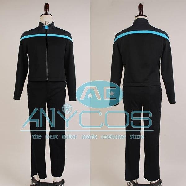 Game Star Trek Online Odyssey Science Uniform Cosplay Costume Blue Version