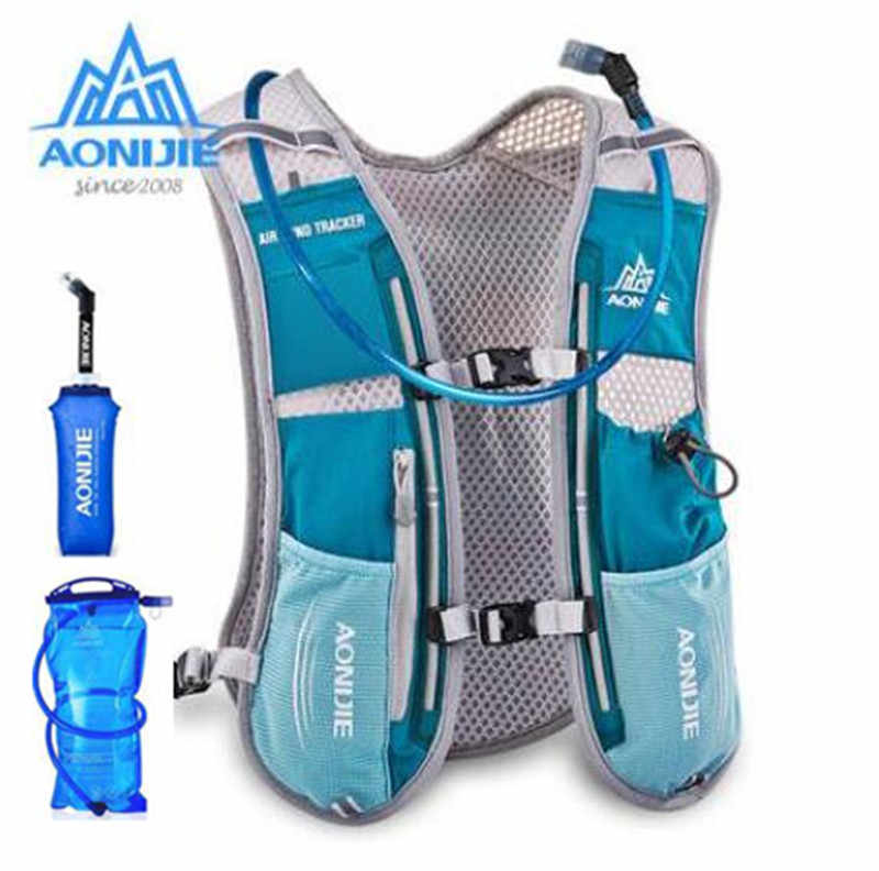 8d962498755d AONIJIE Men Women 5L Running Backpack Outdoor Sports Trail Racing Hiking  Marathon Hydration Vest Pack 1.5L Bag 600ML Kettle