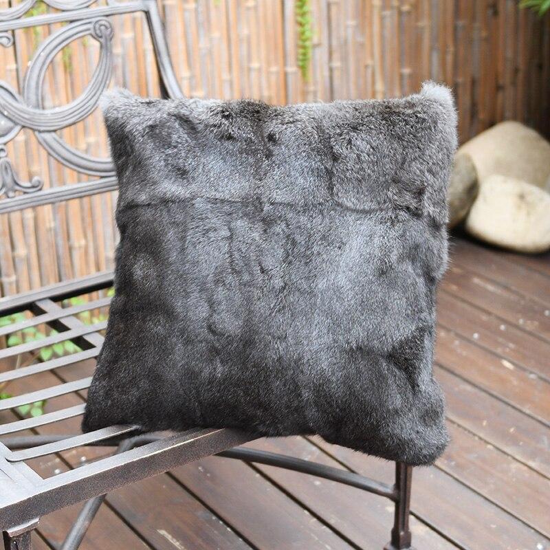CX-D-200 Double Side Fur Rabbit Cushion Cover Pillowcase Warm Decorative Pillow Case Cover Sofa Car Home Decor Drop Shipping