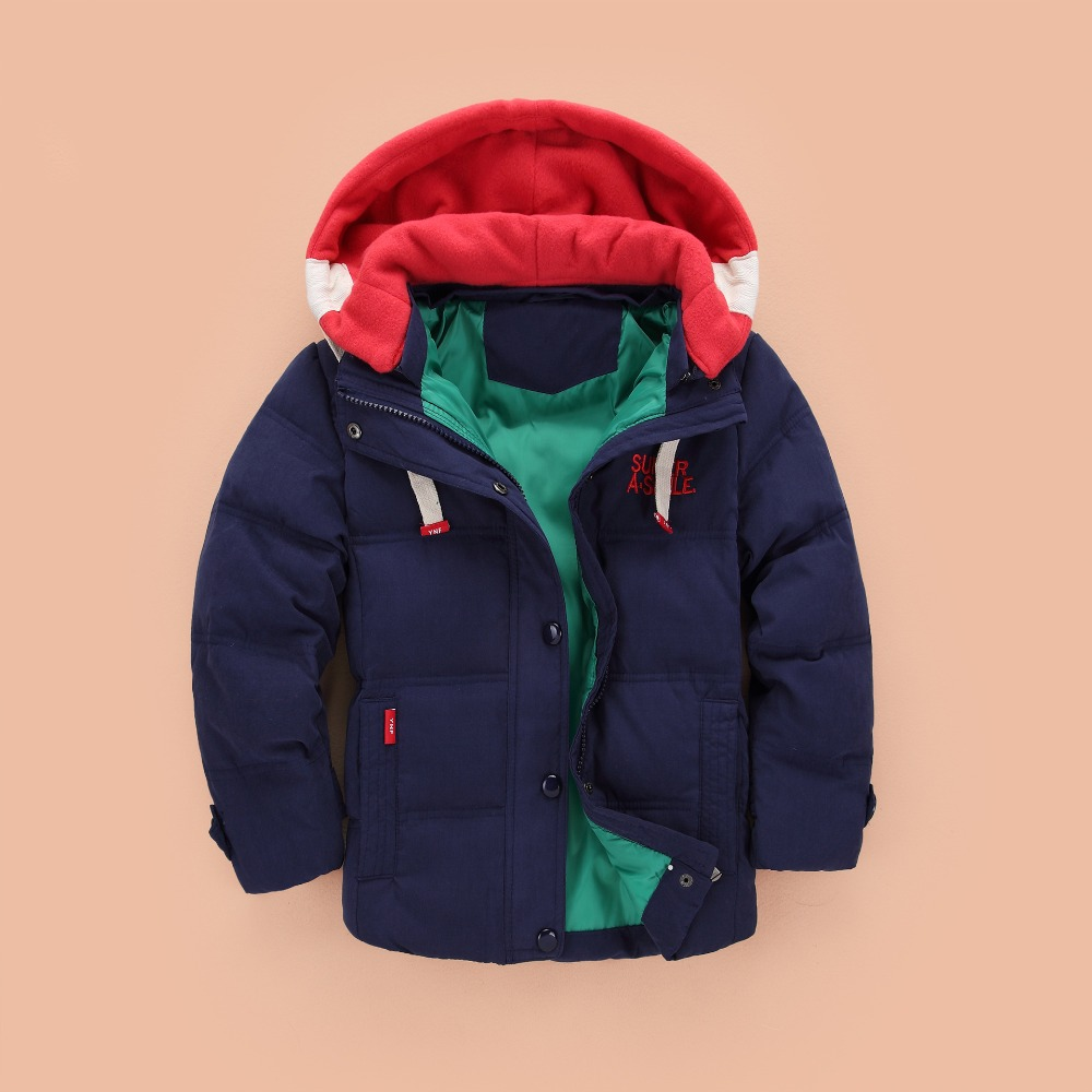 children Down & Parkas 4-10T winter kids outerwear boys casual warm hooded jacket for boys solid boys warm coats 2021 6