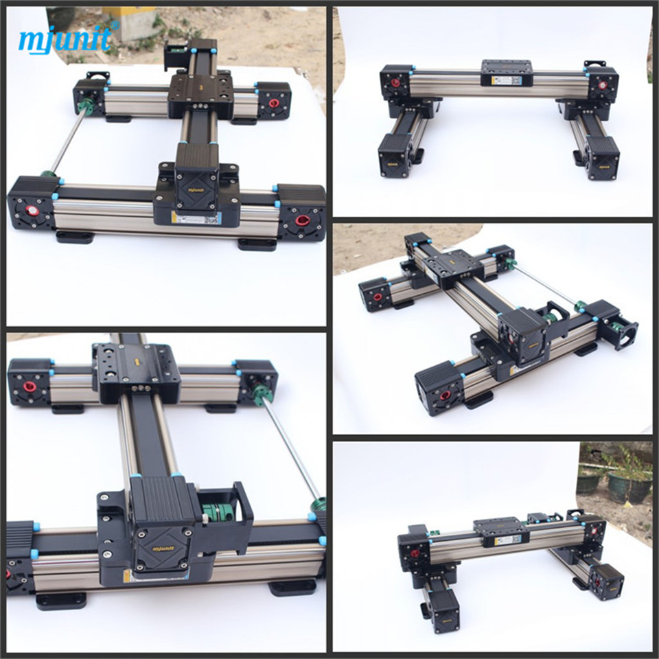 mjunit mj60 Low Frictional Resistance High Accuracy belt drive Linear Guide Rail linear axis with toothed belt drive belt drive linear rail reasonable price guideway 3d printer linear way