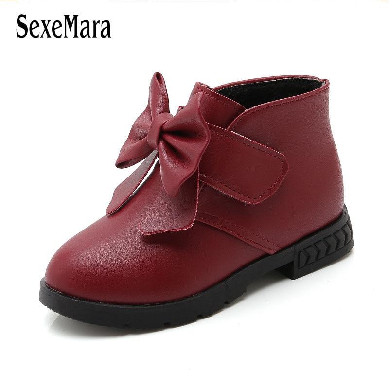 2018 Herbst Winter Kurze Stiefel Weibliche Kinder Schuhe Kleinkind Mädchen Stiefel Atmungs Nicht-slip Mode Trend Baby Stiefel B08082