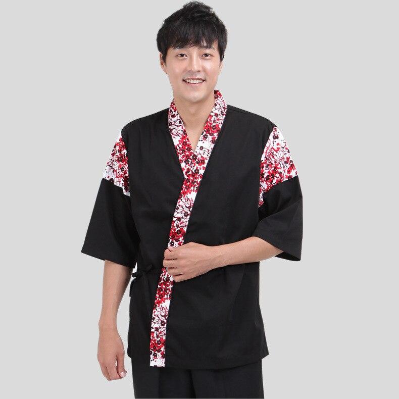 1 pièce japon Cuisine chef costume Restaurant service uniforme Kimono travail porter des uniformes de serveuse