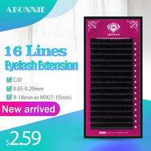16Lines False Mink Eyelashes Extension Individual Natural Soft Lash Professionals Premium 3D Russia volume Silk