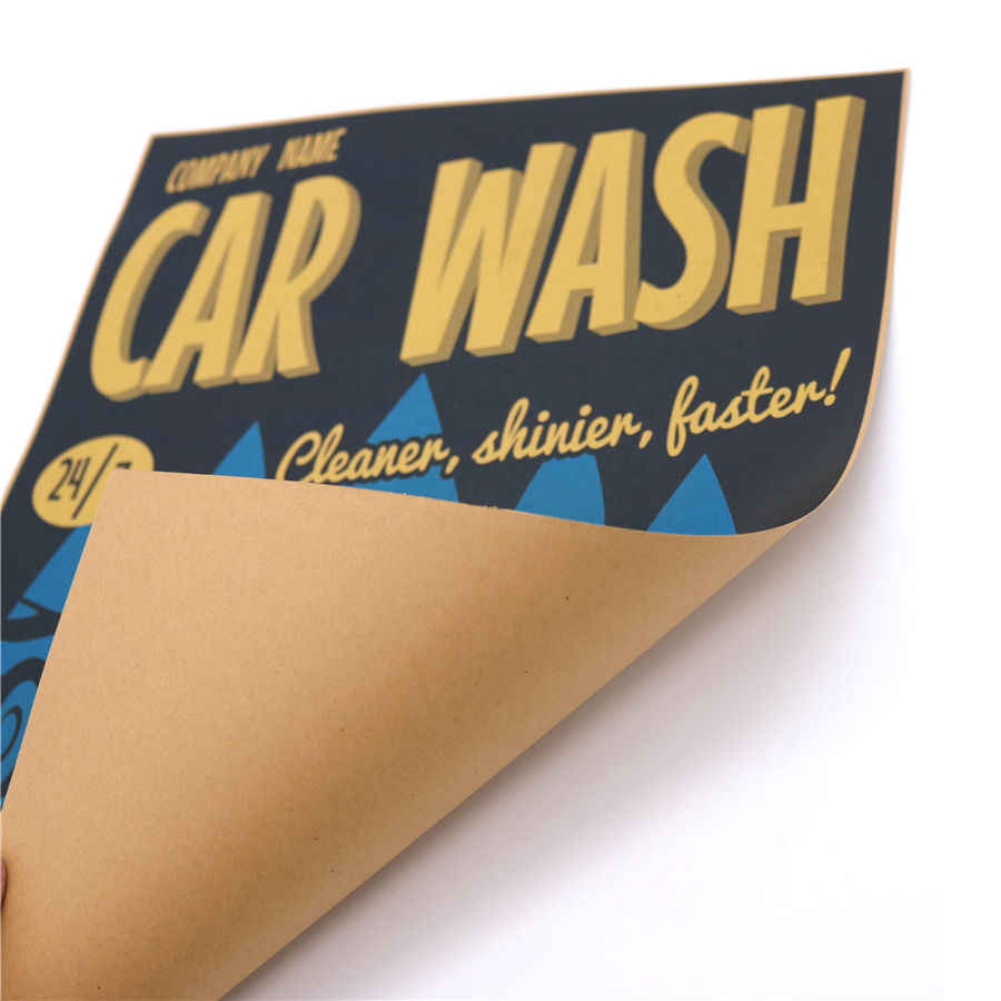 Garage CAR WASH vintage poster adornment of retro paper wall stickers posters for wall pictures retro painting 42x30cm