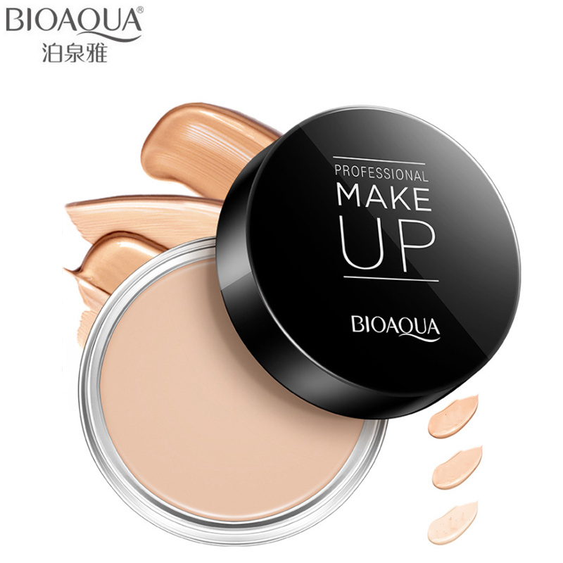 BIOAQUA Brand Face Concealer Cream Makeup Palette Nude Waterproof Natural Base Foundation Contour Cream Cosmetics