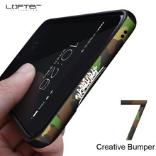 ФОТО camouflage aluminum bumper for apple iphone 7 case metal frame cover for iphone 7 plus with silicone shockproof cartoon armor