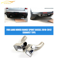 Stainless Steel Exhaust Pipe Tips Auto Car Muffler End Tips Fit For Land Rover Range Sport Diesel 2010 2012|sports range rover|sport sportsport rover -