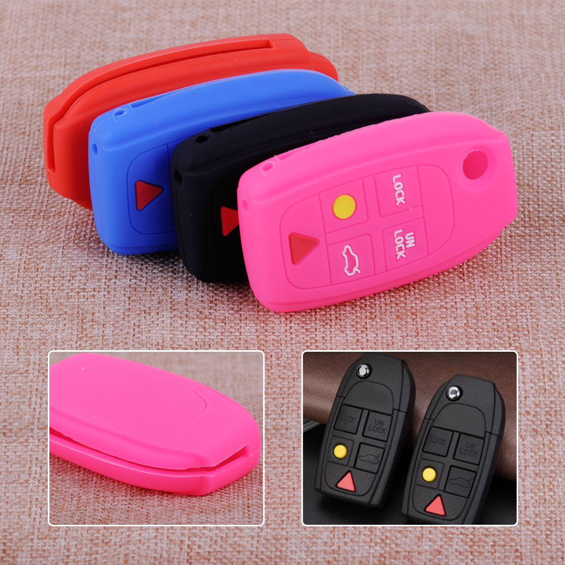 CITALL 5 Buttons Silicone Car Remote Key Cover Shell Case Fob Fit For Volvo S60 S80 V70 XC70 XC90 C30 C70 V50 S40
