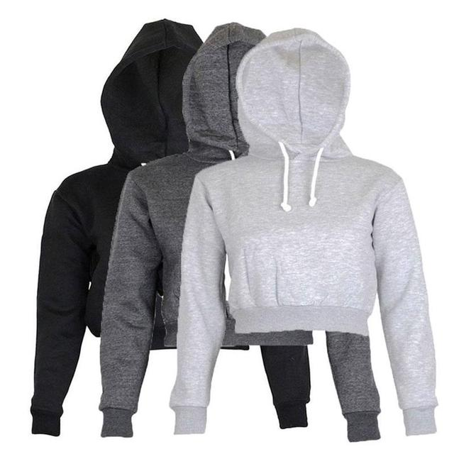 Aliexpress.com : Buy Hot Sale Fation Womens Short Hooded Hoodies ...
