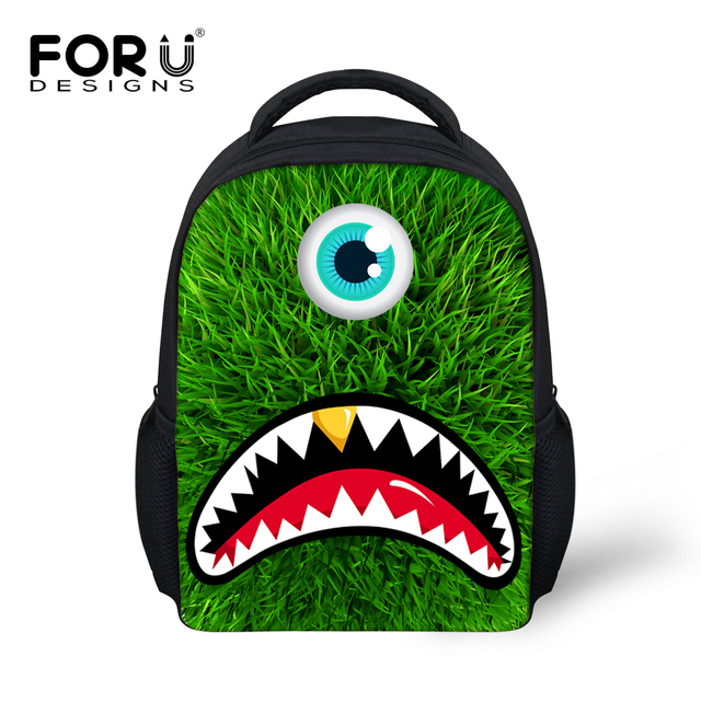 1cec9fa8cf0c FORUDESIGNS Cute Children School Bag 3D Eyed Monster Pattern Kindergarten  Baby Book Bag 12inch Mochila Kids Schoolbag Backpack