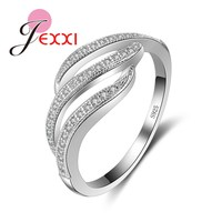 JEXXI Unique Solid 925 Sterling Silver Rings For Men Wholesale Cubic Zircon Wedding Engagement Finger Ring