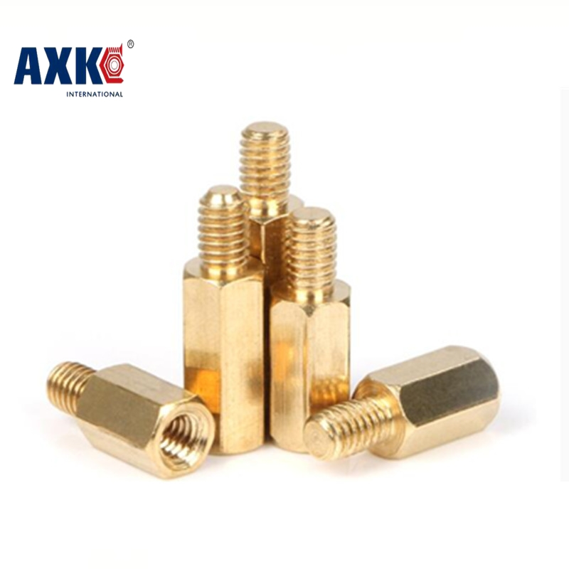 M3 Male 6mm x M3 Female 4-60 mm Brass Standoff Spacer M3 (4-60)+6 Copper Hexagonal Stud Spacer Hollow Pillars m3*(4-60)+6mm m4 male m 25 30 35 40 45 50 55 60 mm x m4 6mm female brass standoff spacer copper hexagonal stud spacer hollow pillars