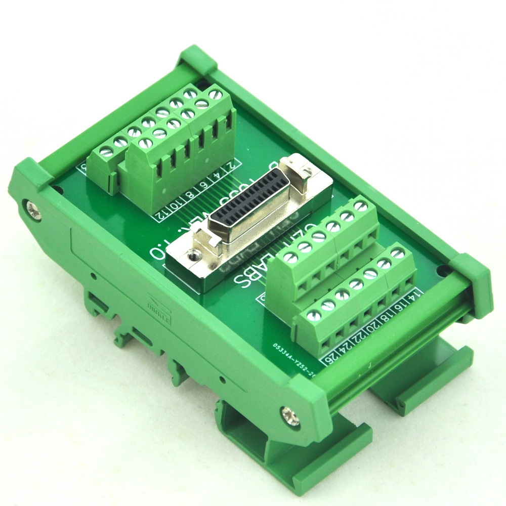 DIN Rail Mount 26-pin Half-Pitch/0.05