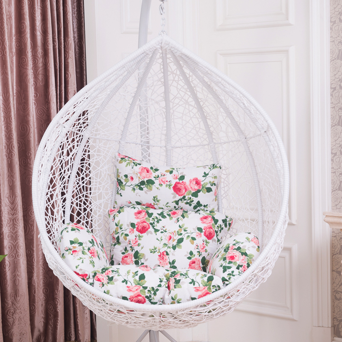Outdoor White Rattan Basket Swing Hanging Chair Rocking Indoor Balcony In  Hanging Baskets From Home U0026 Garden On Aliexpress.com | Alibaba Group
