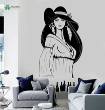YOYOYU Wall Decal Girl Ethnic Style Decor Vinyl Sticker Hippie Chic Bohemian Poster YO097
