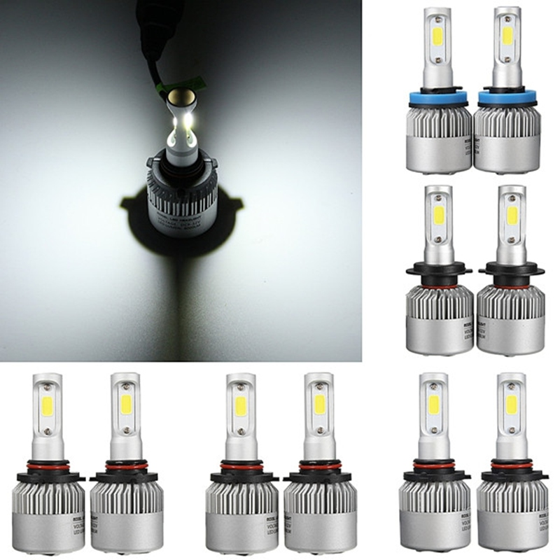 2x 72w COB Chip H4/H11 Hi-lo Beam H7/9005 HB3/9006 HB4/H9 LED Headlight Driving Foglight Bulb 9000LM Auto LED Front Head Lamp car led headlight kit led with fan h1 h3 h4 h7 h8 h9 h10 h11 h13 9005 hb3 9006 9004 9007 9005 hi lo for car hyundai toyota