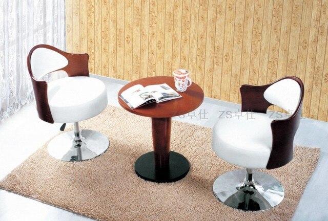 Reception Ufficio Legno : Zhuoshi casual ufficio in pelle sedia in legno curvato negoziare