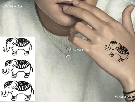 Sex Products Temporary Tattoo Sticker Templates Thai Elephant Animal