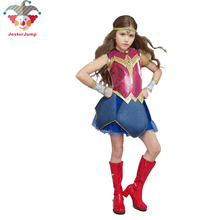 Purim Deluxe Wonder Woman Costume Cosplay Halloween Superhero Girls Child Dawn Of Justice Princess Diana Dress Up Suit