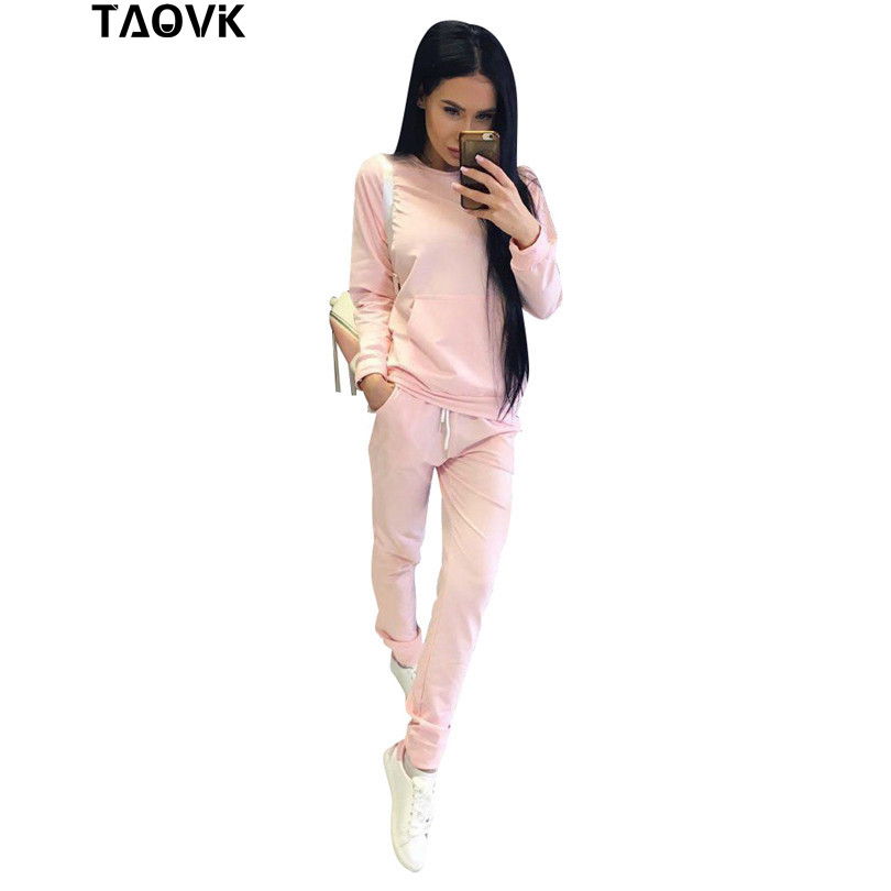 TAOVK Womens Sportsuits Casual Sweatshirt Track & Sweat Tracksuit Long Sleeve Hoodies and Pants Set