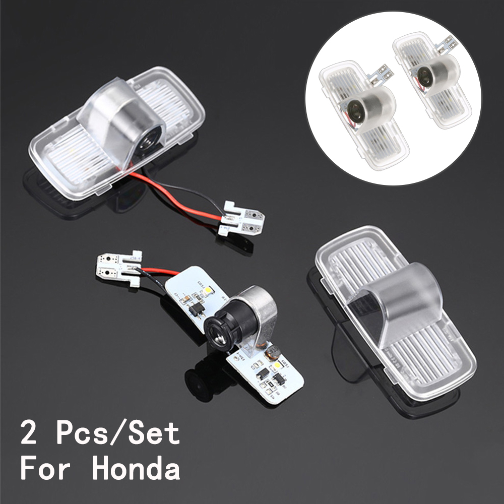 Ghost Shadow Projetor 5W Lens Include Only For Honda/Accord/Crosstour LED Courtesy With Logo 2Pcs/Set