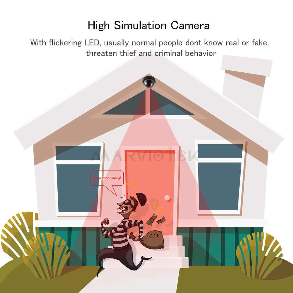 داخلي أمن الوطن كاميرا وهمية قبة كاميرا وهمية مع فلاش مصباح ليد محاكاة مراقبة الفيديو وهمية كاميرات في الهواء الطلق