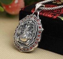 Handmade 925 Silver Ganesha Buddha Pendant vintage thai silver fortune buddha amulet pendant pure silver buddha pendant man gift