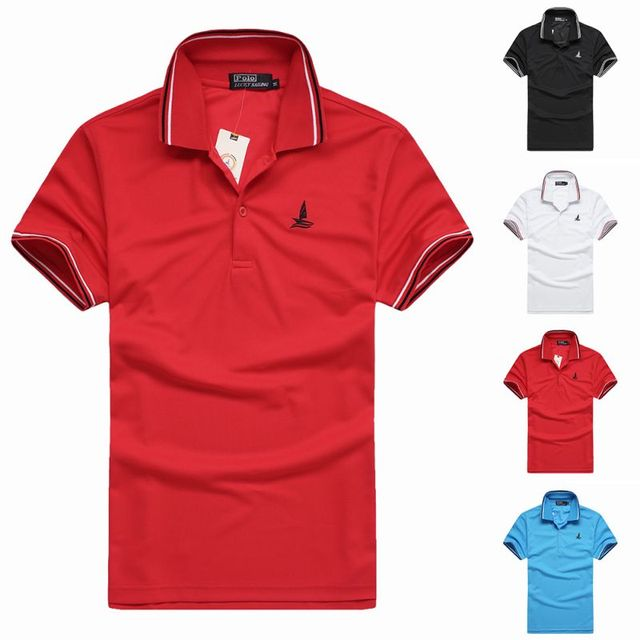 Lucky Sailing Mens Brand Clothing Embroidery T Shirts Top Tees