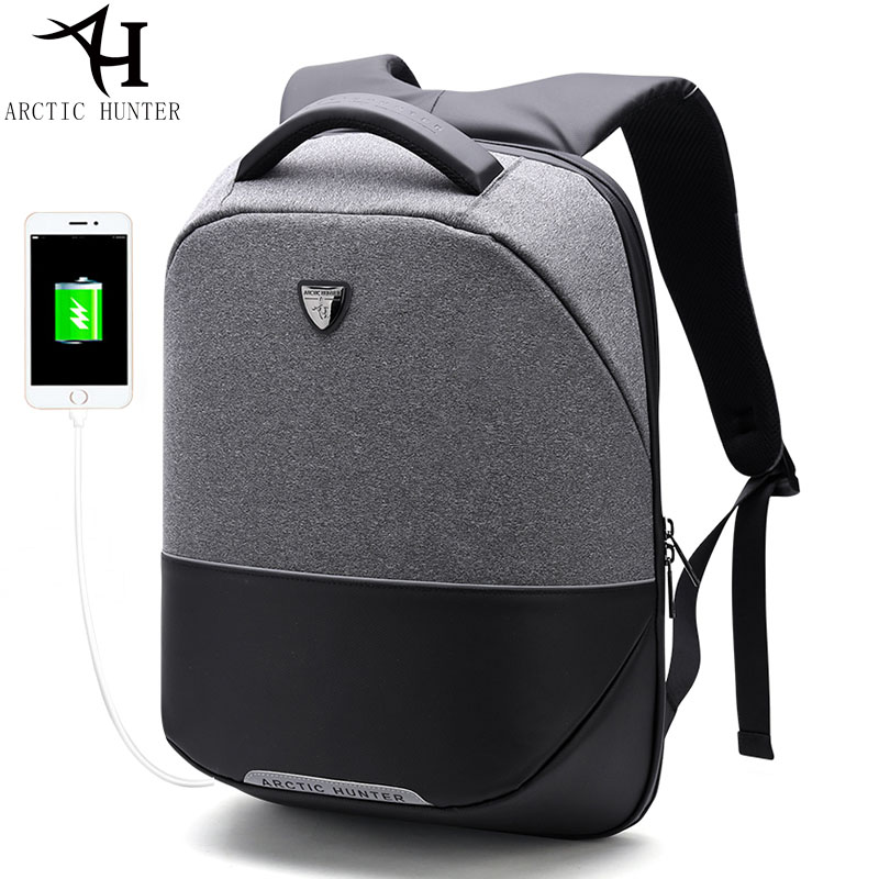 ARCTIC HUNTER Business Travel USB Backpack Men Anti-theft 15inch Laptop Back pack Men's Casual Back To School Women Bags arctic hunter design backpacks men 15 6inch laptop anti theft backpack waterproof bag casual business travel school back pack