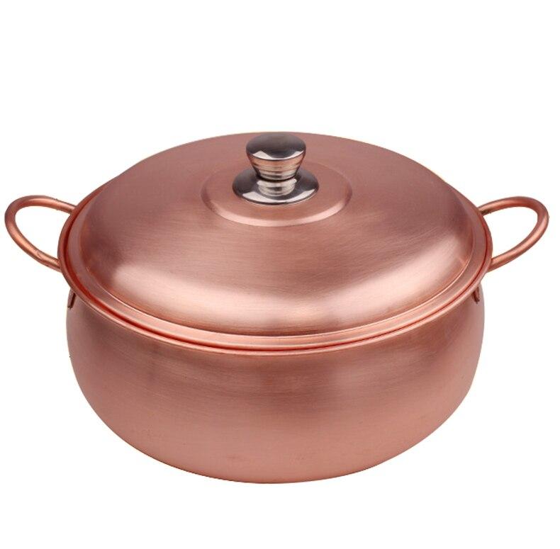 China eletromagnética panela de cobre panela de cozido panela de sopa Chinesa Beijing panela quente doméstica dois-sabor panela quente fondue prato escoriações
